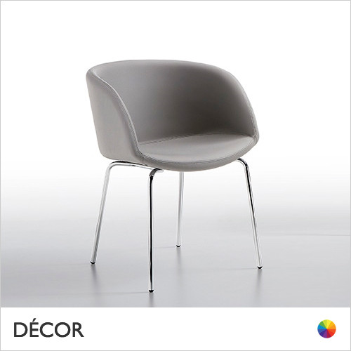 Sonny Tub Chair with Straight Metal Legs - In Designer Fabrics & Eco Leathers - Made for You - Décor for Home & Business