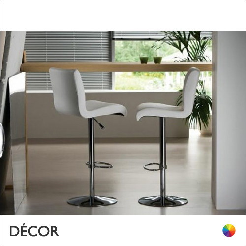 11A1 Astone Bar Stool with a Chrome Gas-Lift Base - In Designer Fabrics & Eco Leathers - Made for You - Décor for Business