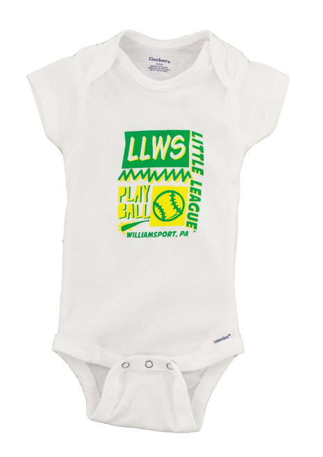 Play Ball White Onesie View Product Image