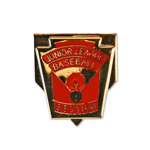 Junior Baseball Section Pin View Product Image