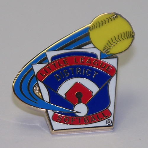 LL Softball District Pin View Product Image