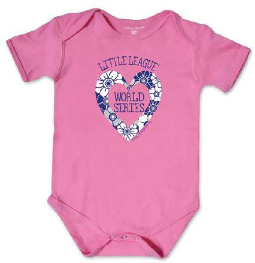 Flower Heart Pink Onesie View Product Image