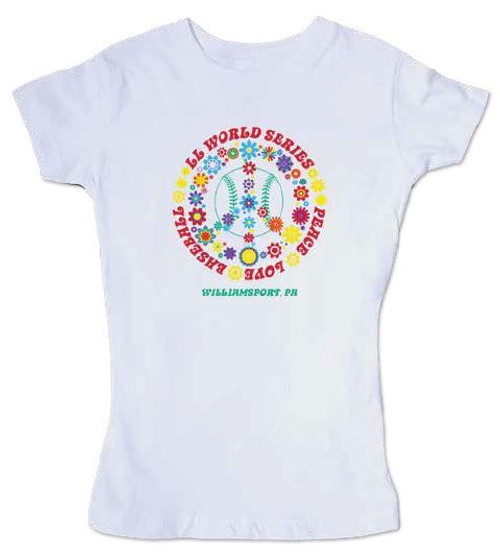 Peace, Love, Baseball Youth Tee View Product Image