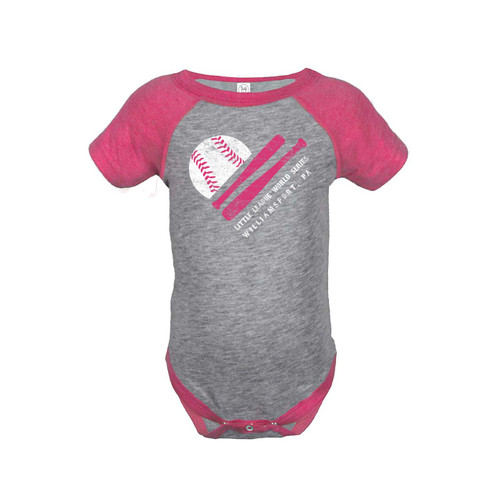World Series Bat/Ball Heart Onesie View Product Image