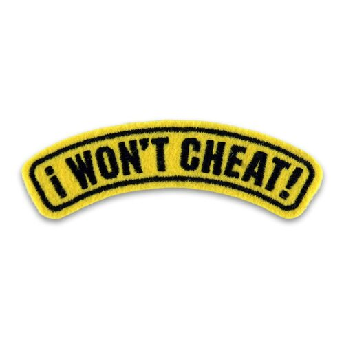 I Won't Cheat Rocker Patch View Product Image