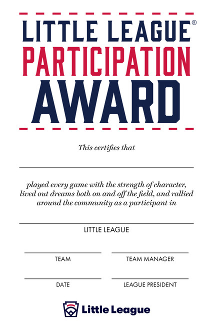 Participation Certificate View Product Image
