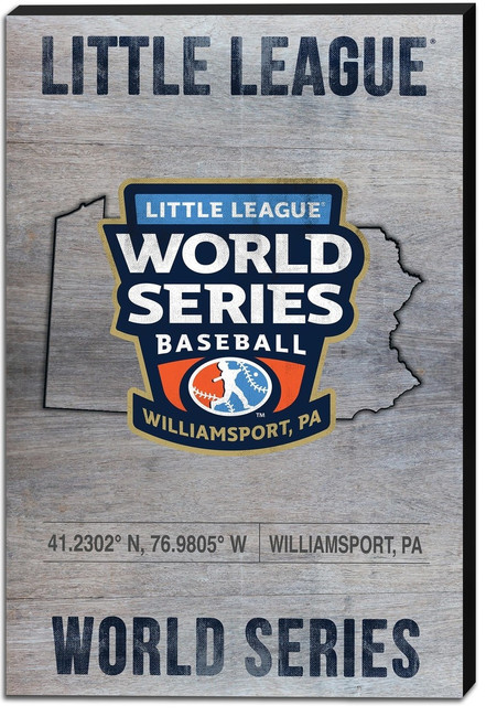 LLWS State Coordinates Canvas View Product Image