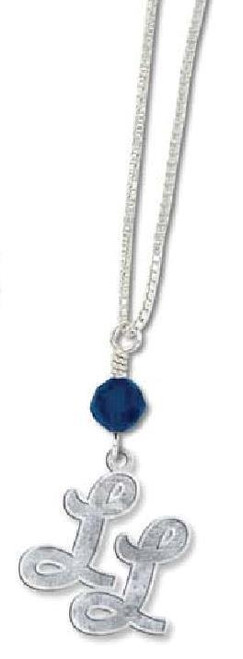 LL Navy Crystal Necklace View Product Image