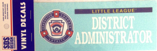 LL District Administrator Decal View Product Image
