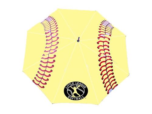 License Softball Stitch Golf Umbrella View Product Image