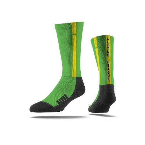 Green Stripe Crew Socks View Product Image