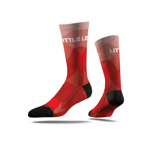Red Prizm Crew Socks View Product Image