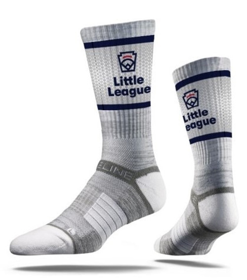 6-13 GRY LL EMB CREW SOCK View Product Image