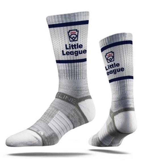 Little League Emblem Gray Crew Sock View Product Image
