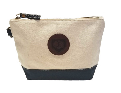 Leather Patch Canvas Pouch View Product Image