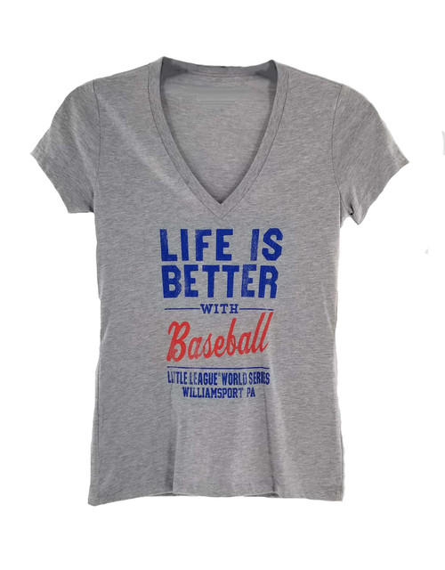 Ladies Life is Better V-Neck Tee View Product Image