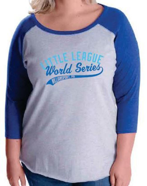 Baseball World Series Royal Raglan Curvy Tee View Product Image