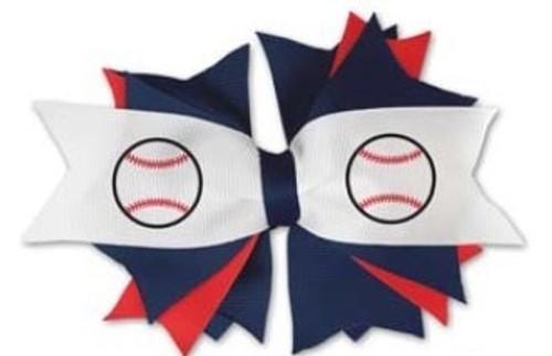 Baseball Spirit Hairbow View Product Image
