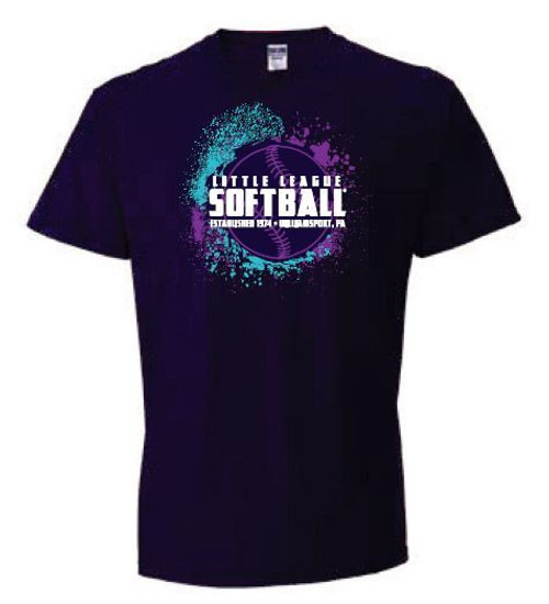 Softball Purple Tee View Product Image