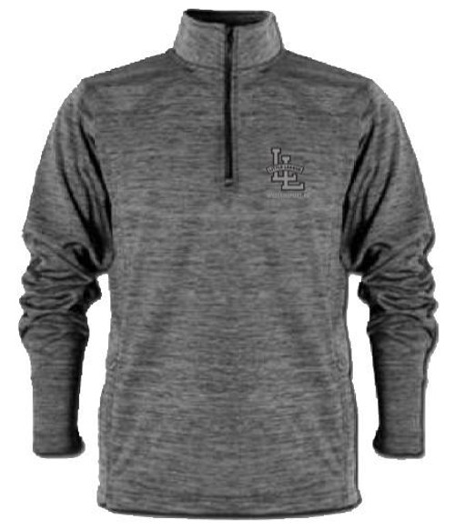 Black Marbled Quarter Zip Pullover View Product Image