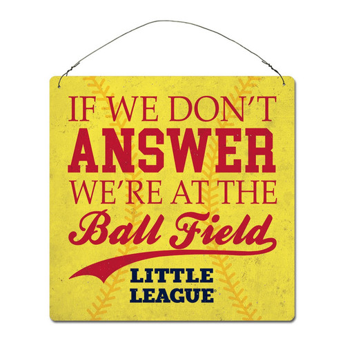 """Softball """"If we don't answer"""" Tin Sign View Product Image"""