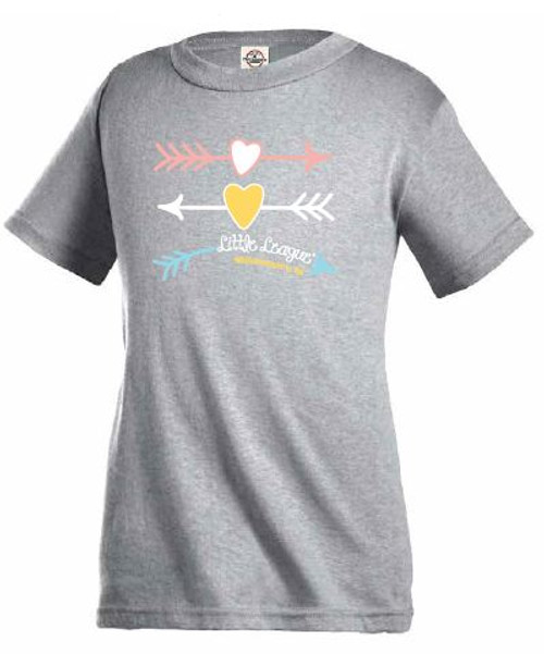 LLWS Girls Heart Arrow Tee View Product Image