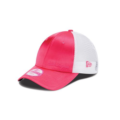 Modern Mesh Pink Satin Cap View Product Image