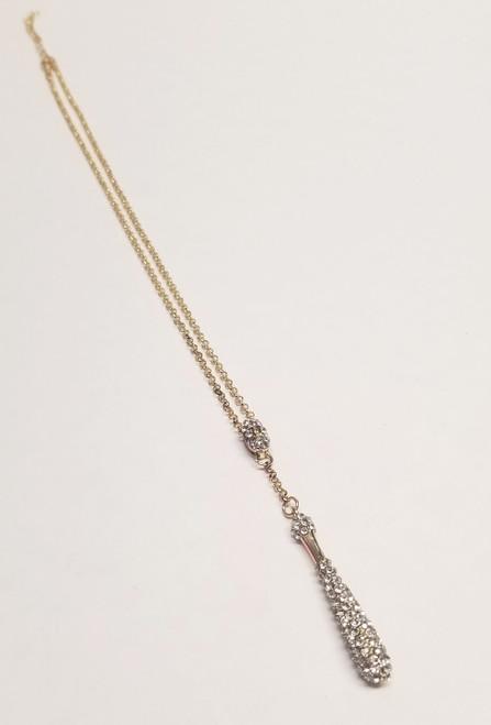 Rhinestone Bat & Ball Necklace View Product Image