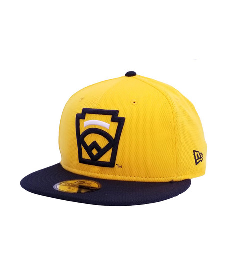 New Era On-Field 59FIFTY White Arch Yellow Fitted Cap View Product Image