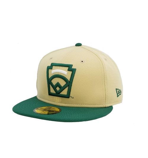 New Era On-Field 59FIFTY White Arch Tan Fitted Cap View Product Image