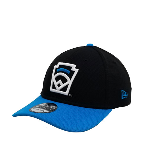 New Era 39THIRTY Blue Arch Black Stretch Fit Cap View Product Image