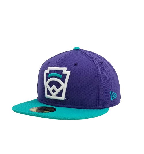 New Era On-Field 59FIFTY Teal Arch Purple Fitted Cap View Product Image
