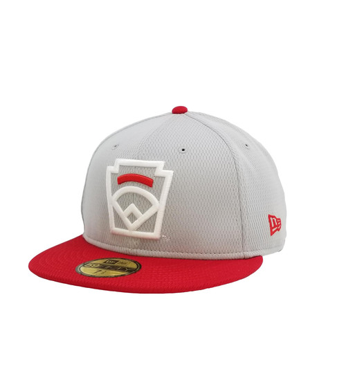 New Era On-Field 59FIFTY Red Arch Gray Fitted Cap View Product Image