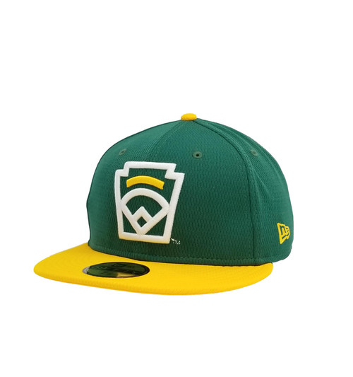New Era On-Field 59FIFTY Yellow Arch Green Fitted Cap View Product Image