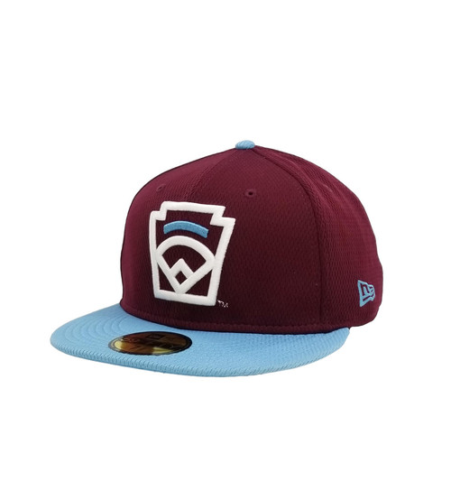 New Era On-Field 59FIFTY Light Blue Arch Maroon Fitted Cap View Product Image