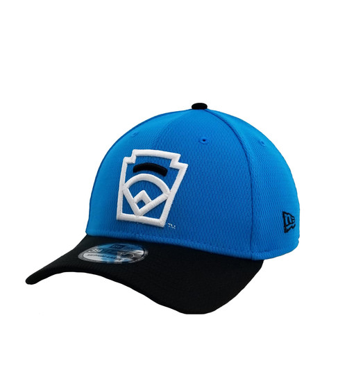 New Era 39THIRTY Black Arch Blue Stretch Fit Cap View Product Image