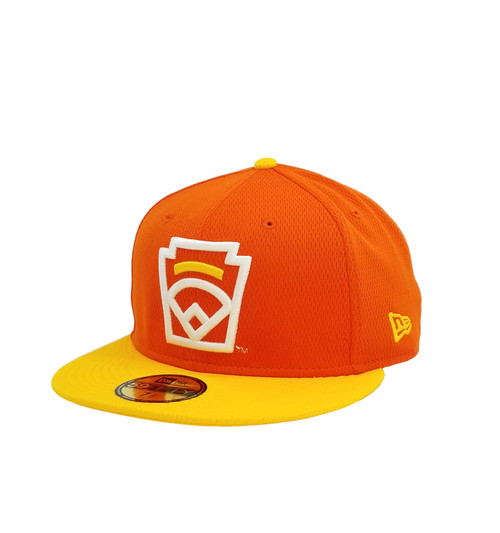 New Era On-Field 59FIFTY Yellow Arch Orange Fitted Cap View Product Image