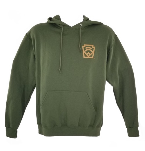 Little League Brand Left Chest & Full Back Hood View Product Image
