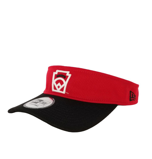 New Era Black Arch Red Adjustable Visor View Product Image