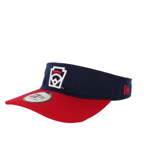 New Era Red Arch Navy Adjustable Visor View Product Image