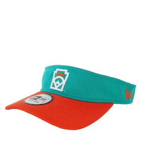New Era Orange Arch Teal Adjustable Visor View Product Image
