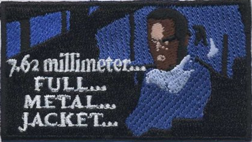 7.62 Full Metal Jacket embroidered patch