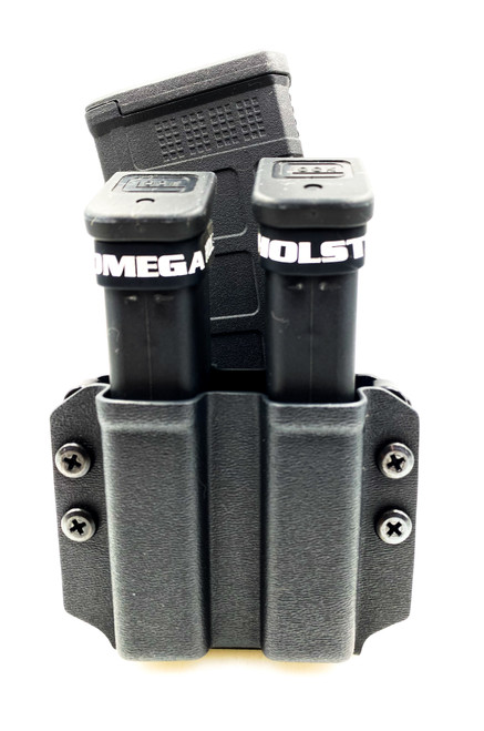 Bullets Out Dual Pistol Mag Carrier with AR Mag and MRD