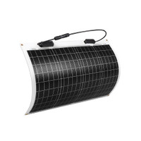 50W 12V 248도 플렉시블 단결정 태양광 모듈
