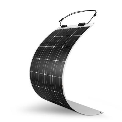100W 12V 248도 플렉시블 단결정 태양광 모듈