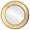 Flat Mirror - Paris Circle Frame - Gold Leaf