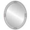 Flat Mirror - Jefferson Oval Frame - Antique White