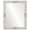 Flat Mirror - Jefferson Rectangle Frame - Antique White