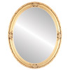 Flat Mirror - Jefferson Oval Frame - Antique Gold Leaf