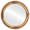Flat Mirror - Jefferson Circle Frame - Antique Gold Leaf